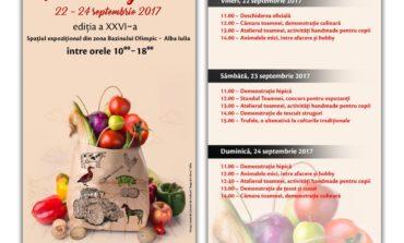 22-24 septembrie: Cămara toamnei se deschide la Târgul Apulum Agraria 2017, de la Alba Iulia. Demonstraţii culinare, ateliere şi multe alte surprize