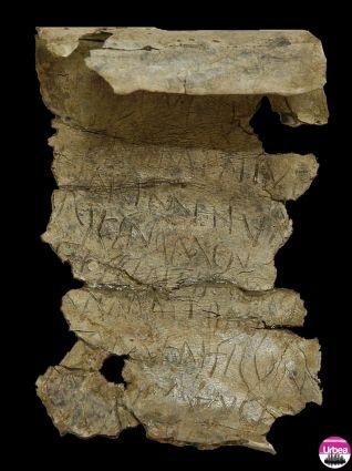 Tăblița cu blesteme, veche de 2000 de ani, descoperită la Alba Iulia