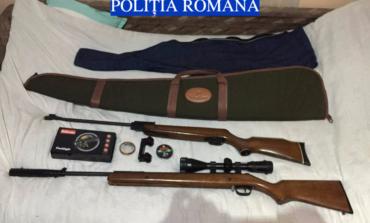 FOTO: Percheziții în Alba Iulia, Teiuș și Blaj, la suspecți de contrabandă cu arme