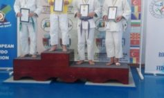FOTO: Alexandru Sibișan, judoka legitimat la Clubul Sportiv Unirea Alba Iulia, medaliat cu bronz la Campionatul Național Ne Waza