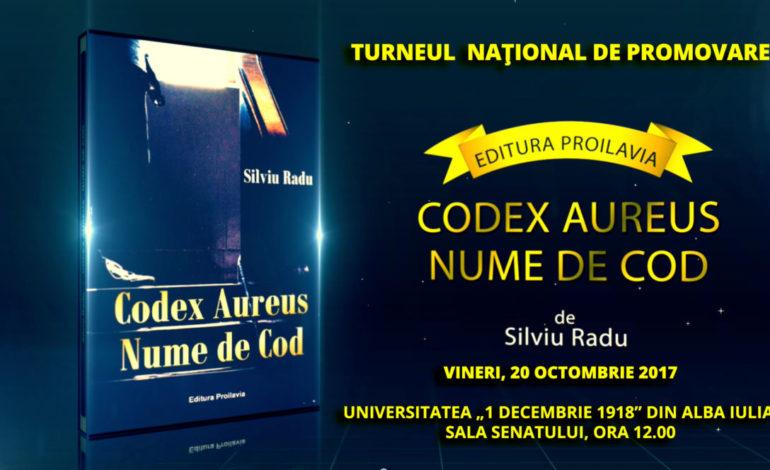 VINERI: Lansarea cărţii-eveniment, CODEX AURES.NUME DE COD, semnată de Silviu Radu, în Sala Senatului UAB