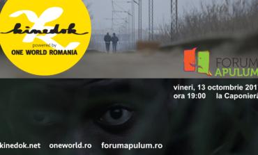 """Vineri: Seria de proiecții KineDok powered by One World România ajunge la Alba Iulia - """"Proiecții cu reflecții"""" la Forum Apulum"""