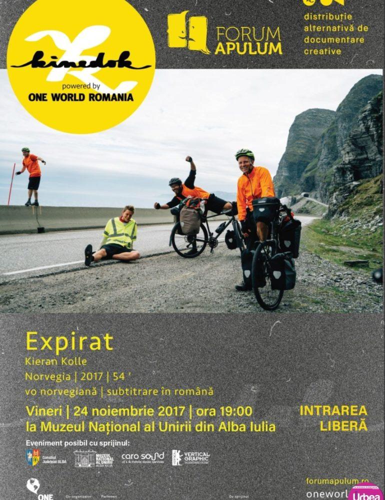 """VINERI: Documentarul """"Expirat"""", un nou eveniment din seria """"Proiecțiile cu reflecții"""" de la Forum Apulum"""