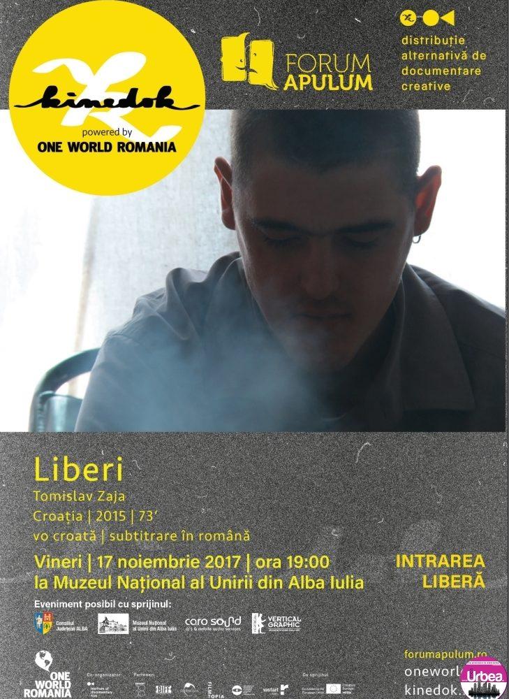 """Vineri: """"Proiecțiile cu reflecții"""" continuă cu documentarul """"Liberi"""", la Muzeul Naţional al Unirii din Alba Iulia"""