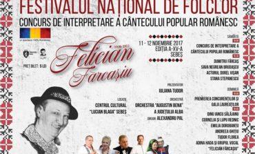 """10-12 NOIEMBRIE: Festivalul Naţional de Folclor """"Felician Fărcaşiu"""" – Concurs de interpretare a cântecului popular românesc, la Sebeş. Programul evenimentului"""