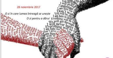 """28 NOIEMBRIE: GivingTuesdayAlbaIulia, o campanie care promovează mesajul """"Dă mai departe, fii generos!"""""""