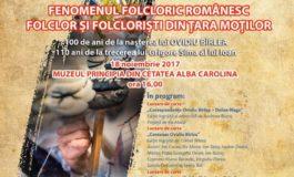 """SÂMBĂTĂ: Colocviile Naţionale de Etnografie şi Folclor """"Gheorghe Pavelescu"""", la Muzeul Principia din Alba Iulia"""