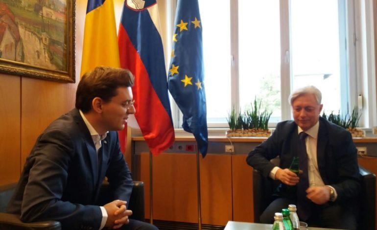 Vizita ministrului delegat pentru Afaceri Europene, Victor Negrescu, în Slovenia