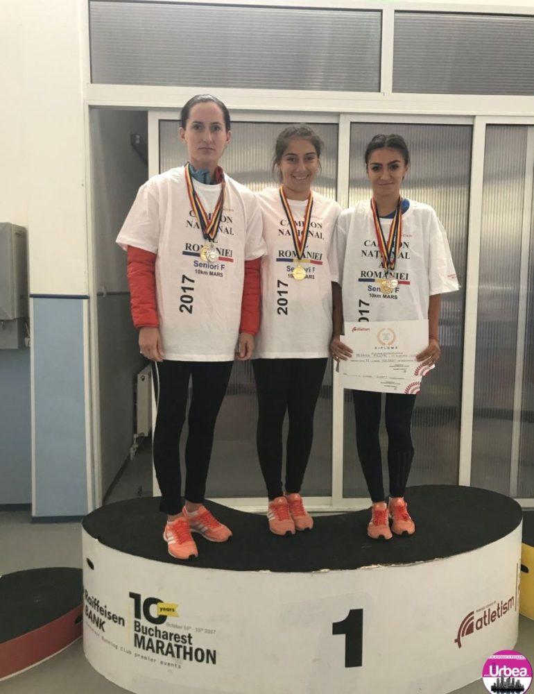 FOTO: Clubul Sportiv Unirea Alba Iulia, medaliat cu aur la Campionatul Național de 10 kilometri Marș