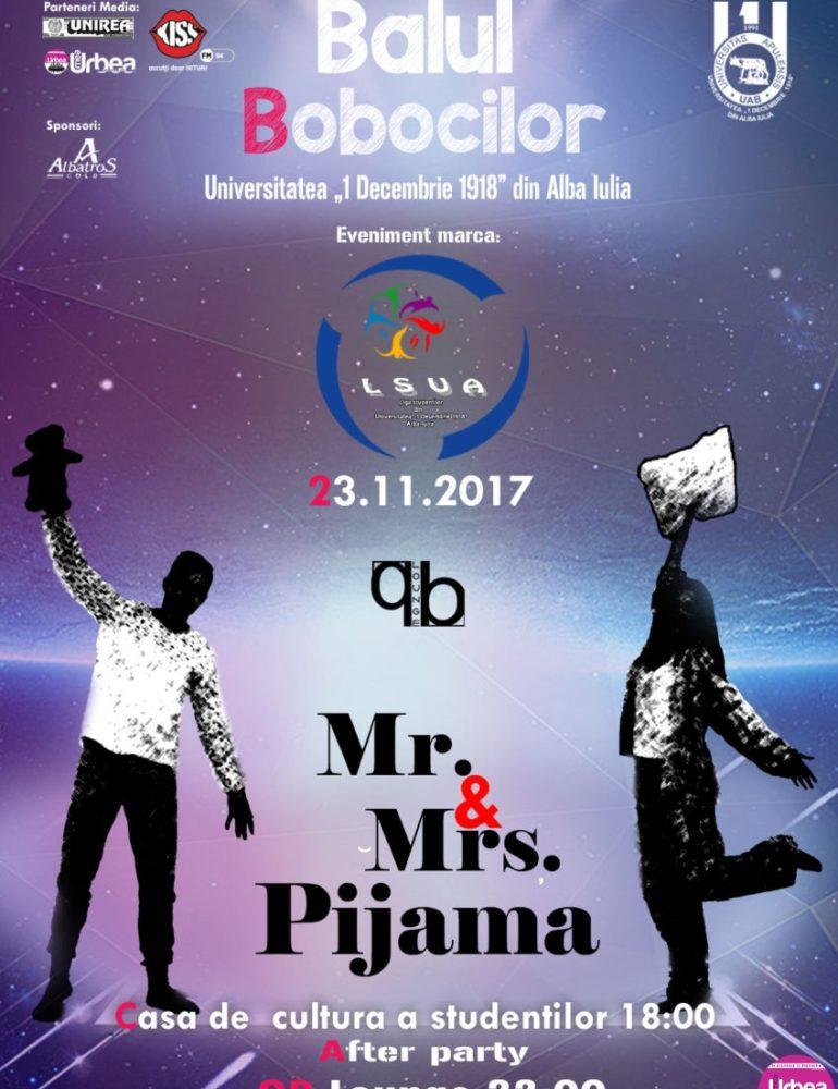 """23 Noiembrie: Balul Bobocilor la Universitatea """"1 Decembrie 1918"""" din Alba Iulia. Şase perechi se luptă pentru titlurile de Miss şi Mister Boboc"""