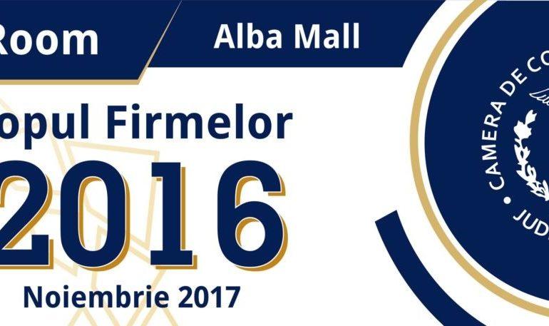 24 NOIEMBRIE: Topul Firmelor 2016, la Alba Mall. Companiile cu rezultate deosebite în activitatea din anul precedent, premiate de Camera de Comerţ şi Industrie Alba