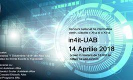 """in4it: Concurs național de informatică pentru elevii de clasa a XI-a și a XII-a, la Universitatea """"1 Decembrie 1918"""""""