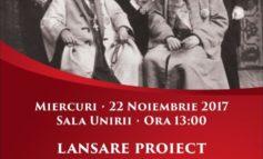 """MIERCURI: Lansarea proiectului cultural""""Ținutele istoriei VI. Personalitățile Unirii"""", la Sala Unirii din Alba Iulia"""