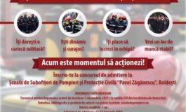 ISU Alba: 38 de tineri s-au înscris, până acum pentru concursul de admitere la Școala de Subofițeri de Pompieri și Protecție Civilă Boldești. Termenul limită, 5 decembrie