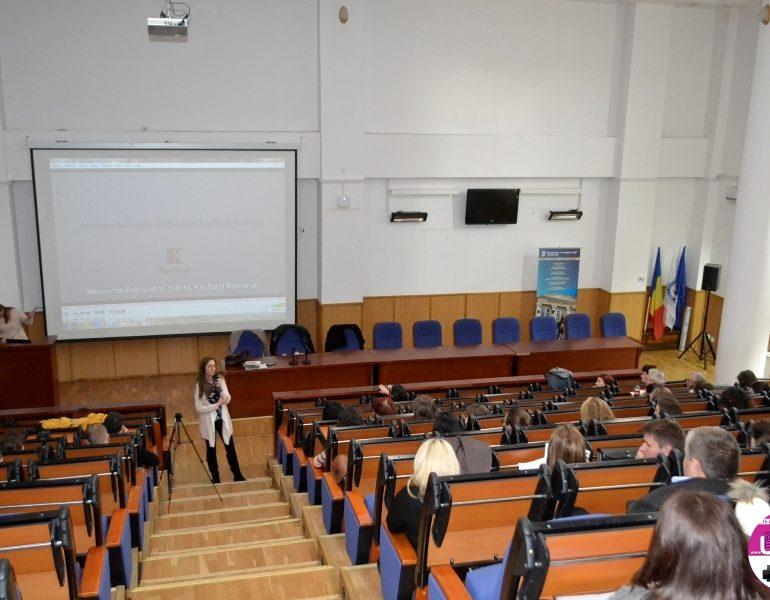 """FOTO IPJ Alba: Violenţa domestică – Tema de dezbatere cu studenţii Universităţii """"1 Decembrie 1918"""" Alba Iulia"""