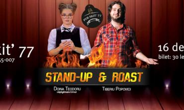 16 DECEMBRIE: Vino să-ţi iei porţia de râs, la Pub Skit' 77. Stand UP cu Doina Teodoru și Tiberiu Popovici