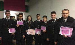 """FOTO: Trei elevi ai Colegiului Național Militar """"Mihai Viteazul"""" din Alba Iulia, premiați la concursul zonal de matematică """"Mens Sana"""""""