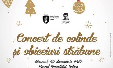 MIERCURI: Concert de colinde şi obiceiuri străbune, în Parcul Tineretului din Sebeş