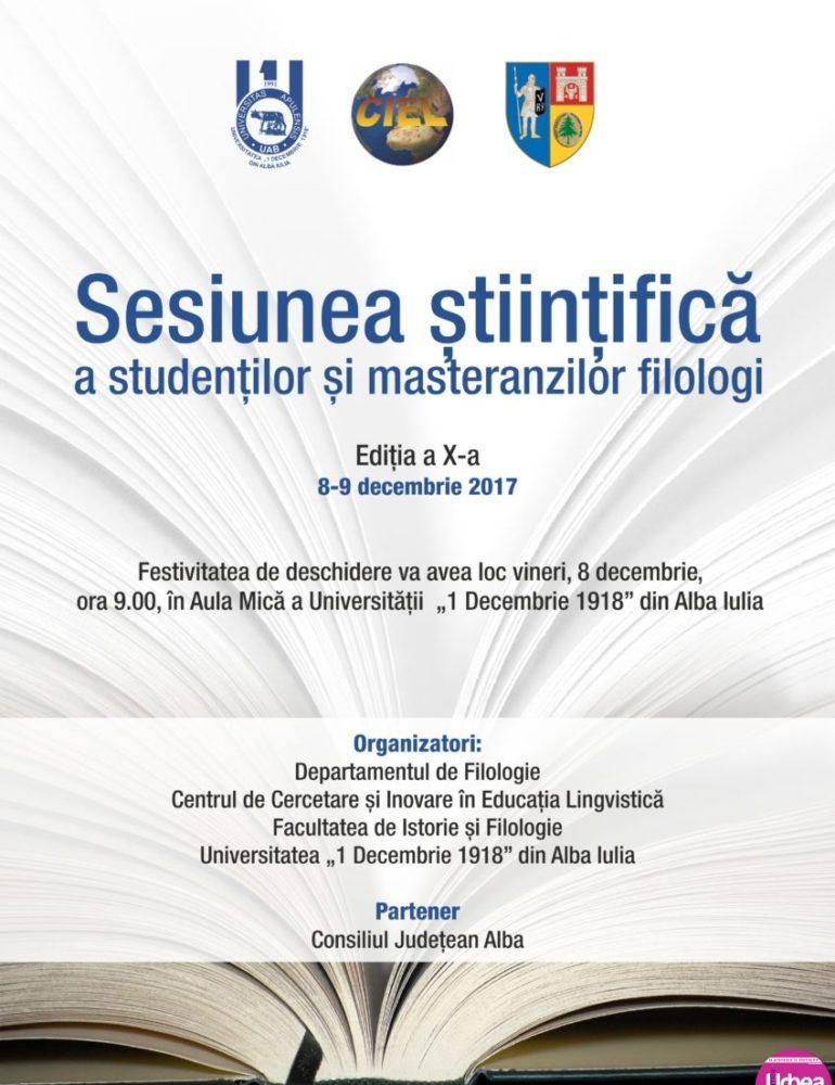 8-9 decembrie: Sesiunea științifică a studenților și masteranzilor, la Universitatea din Alba Iulia