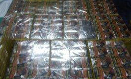 FOTO: 47 de kilograme de articole pirotehnice şi 4,6 metri cubi de material lemnos, confiscate de poliţiştii din Sebeş