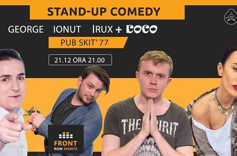 Joi, 21 decembrie: IUmor se mută din nou la Pub Skit'77 din Alba Iulia. Stand Up Comedy cu Ionuț, Rux, George și Coco