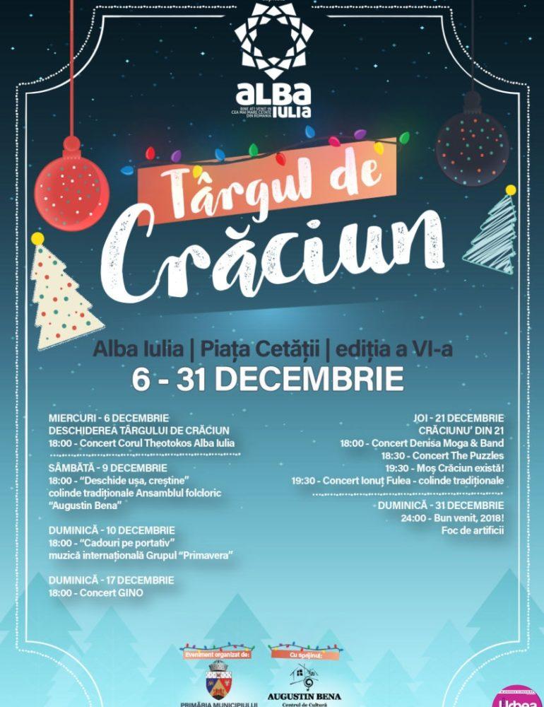 Târgul de Crăciun de la Alba Iulia: Spectacole în fiecare weekend până la venirea lui Moş Crăciun. PROGRAM