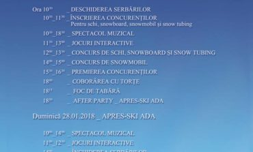 27-28 IANUARIE: Serbările Zăpezii 2018, pe Domeniul Schiabil Șureanu. Concursuri, petreceri, foc de tabără și focuri de artificii. PROGRAM