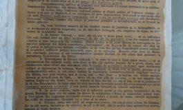 FOTO: Apel pentru formarea Gărzilor Naționale din Transilvania, 9 noiembrie 1918, exponatul lunii ianuarie, la Muzeul Naţional al Unirii din Alba Iulia