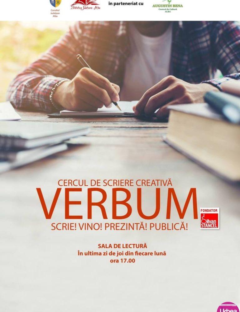 """DE JOI, cercul de scriere creativă VERBUM, la Biblioteca Judeţeană """"Lucian Blaga"""" Alba"""