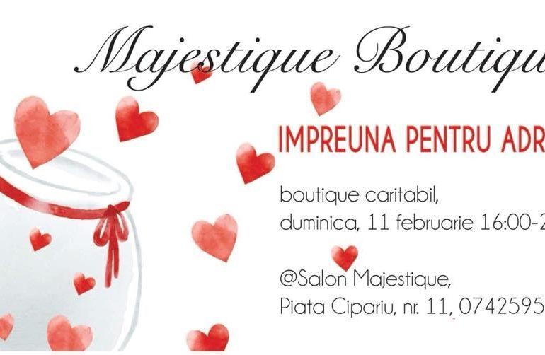 DUMINICĂ: #ÎmpreunăpentruAdrian, la Cluj-Napoca. Barzar caritabil la Majestique Boutique pentru Adrian Vinţan, tânărul albaiulian care are nevoie de 75.000 de euro pentru tratament