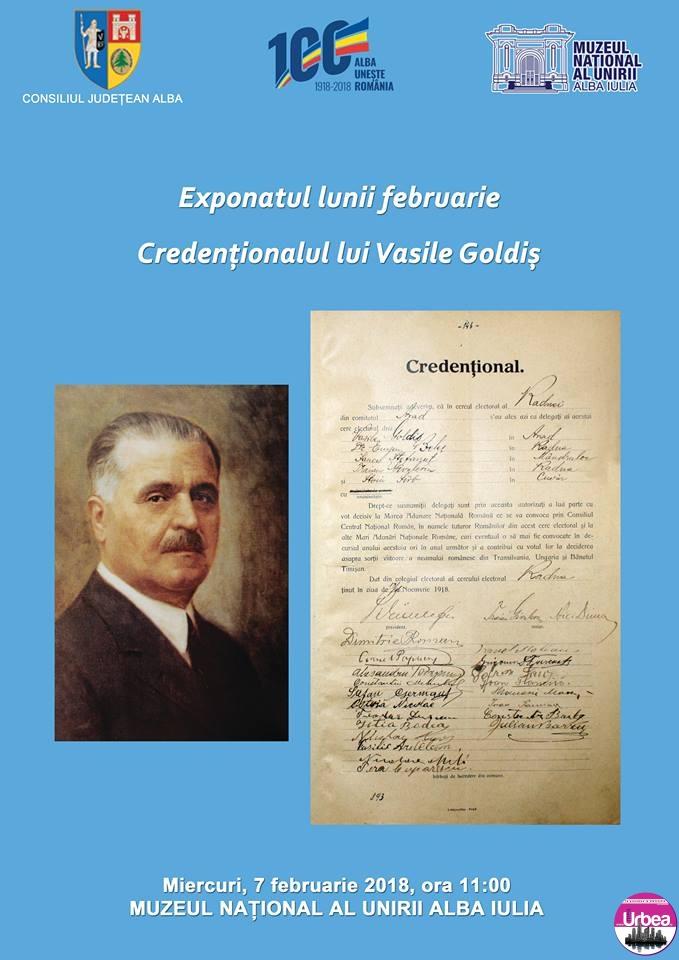 Miercuri: Exponatul lunii februarie, la Muzeul Naţional al Unirii din Alba Iulia