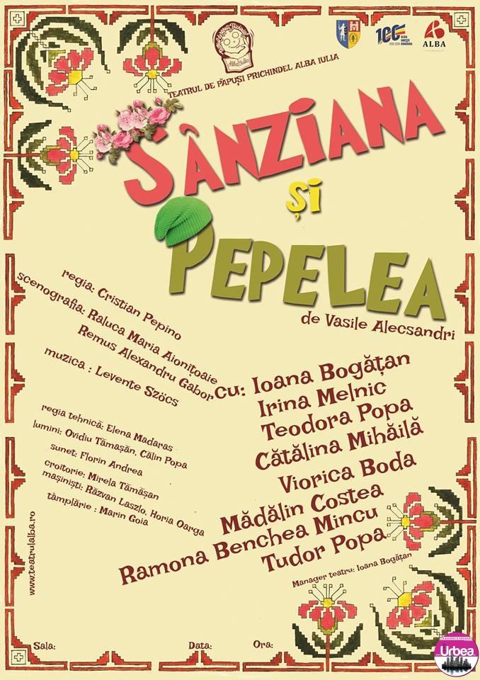 """Sâmbătă: Premiera spectacolului """"Sânziana și Pepelea"""", pus în scenă de Teatrul de Păpuşi """"Prichindel"""", la Casa de Cultură a Studenţilor din Alba Iulia. Vineri va avea loc avanpremiera"""