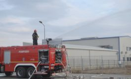 FOTO: Exerciţiu al Detaşamentului de pompieri Alba Iulia, în colaborare cu ISU Sibiu la Oiejdea