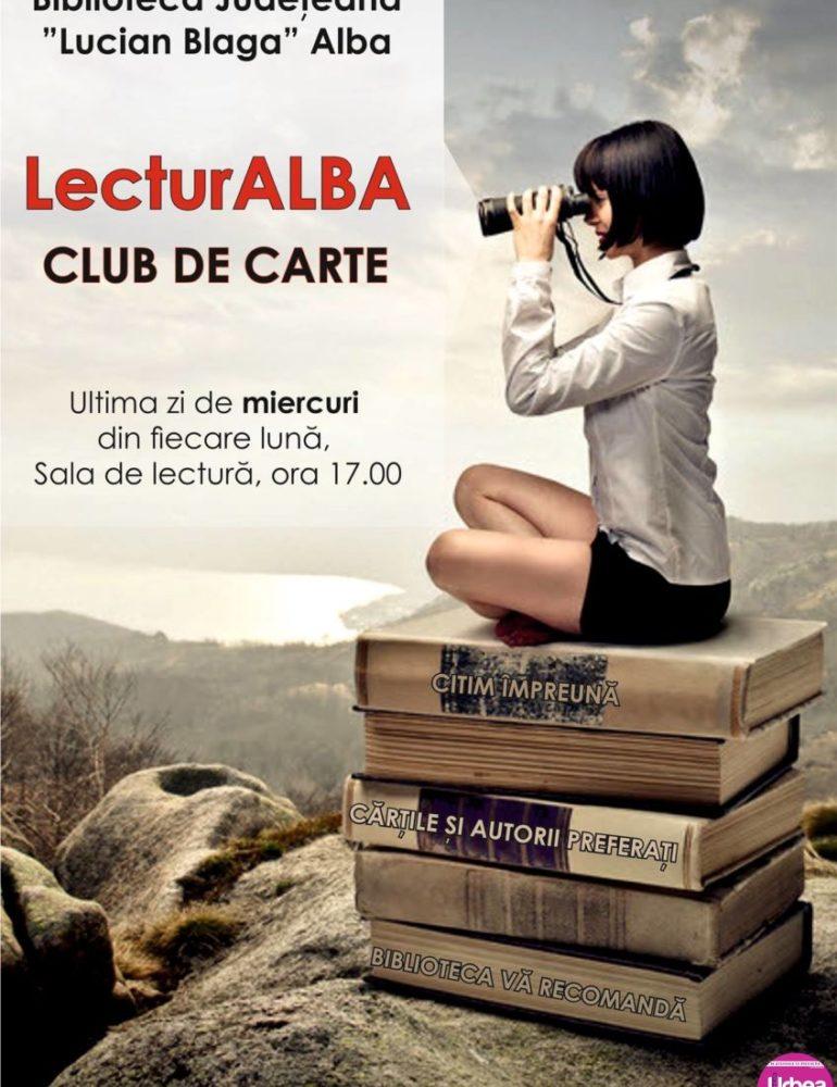 """MIERCURI: Clubul de carte """"LecturAlba"""", din nou la Biblioteca Județeană ,,Lucian Blaga"""" Alba"""