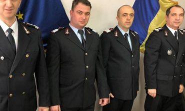 FOTO: Un ofițer și 3 subofițeri de la ISU Alba, avansați în grad, cu ocazia Zilei Protecţiei Civile