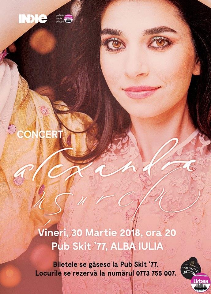 Alexandra Uşurelu vine pe 30 martie la Pub Skit' 77 din Alba Iulia cu un concert excepţional