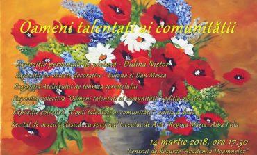 """MIERCURI: """"Oameni talentați ai comunității"""", ediţia a IV-a. Expoziţii şi recital de muzică clasică la Centrul de Resurse """"Academia Doamnelor"""" din Alba Iulia"""