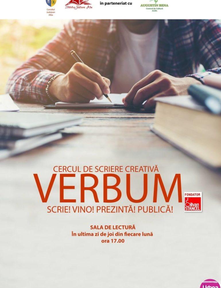 """Joi: O nouă întâlnire cu participanții la cercul de scriere creativă ,,Verbum"""", la Biblioteca Judeţeană ,,Lucian Blaga"""" Alba"""