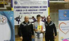 FOTO: Alexandru Sibișan, sportiv legitimat la CS Unirea Alba Iulia, medaliat cu bronz în finala Campionatului Național de Judo U15