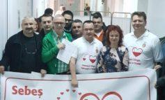 Primarul Dorin Nistor şi viceprimarul Adrian Bogdan au donat astăzi sânge la Spitalul Municipal Sebeș
