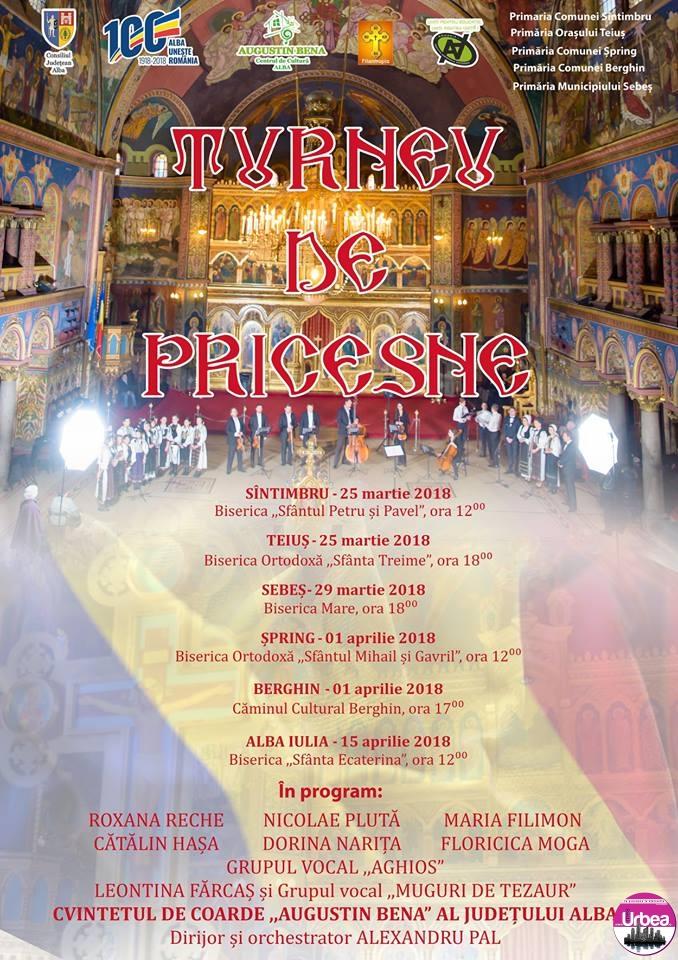 """25 martie – 15 aprilie: Turneu de pricesne """"pentru suflet"""" în judeţul Alba"""