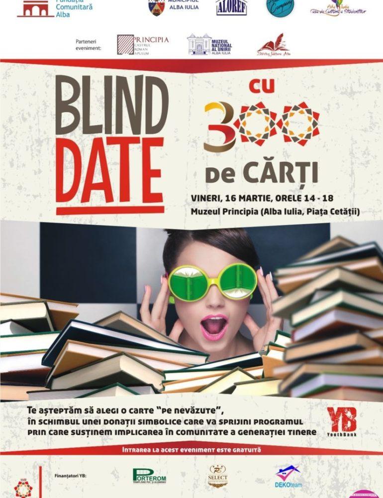 """16 martie: """"Blind date cu 300 de cărți"""", ediţia a III-a, la Muzeul Principia din Alba Iulia"""