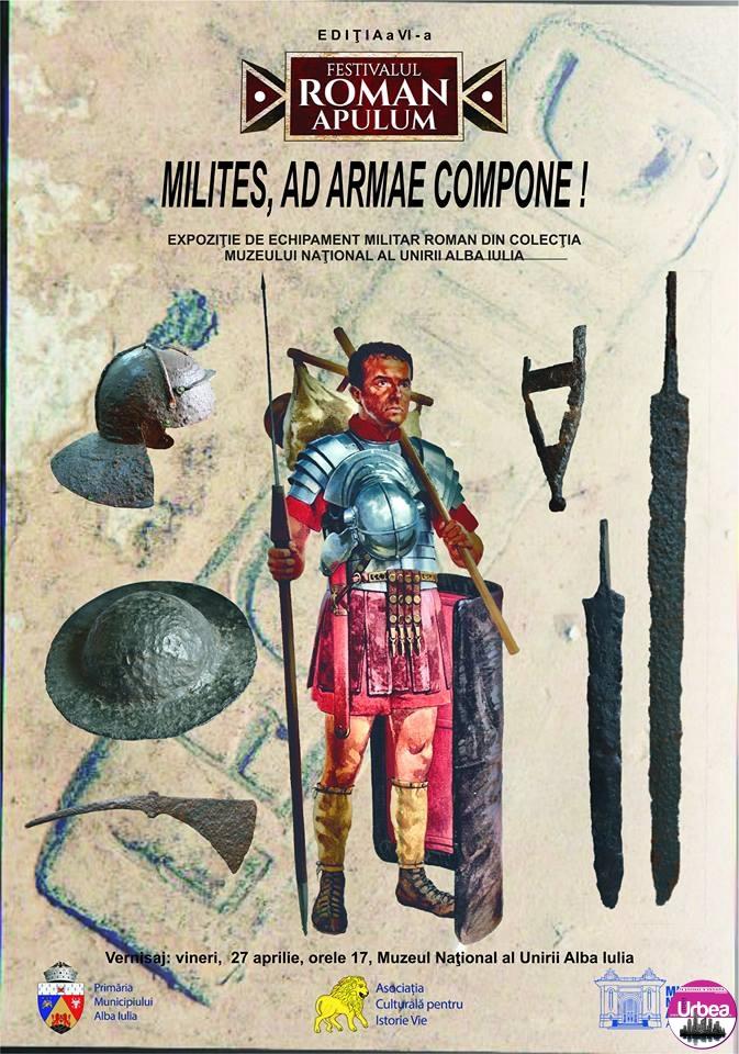 VINERI: Milites, ad armae compone! Expoziție de echipament militar roman, în premieră la Muzeul Național al Unirii din Alba Iulia