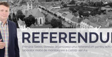 27 mai: Referendum la Sebeş privind achiziţia unui unui laborator mobil de măsurare a calității aerului