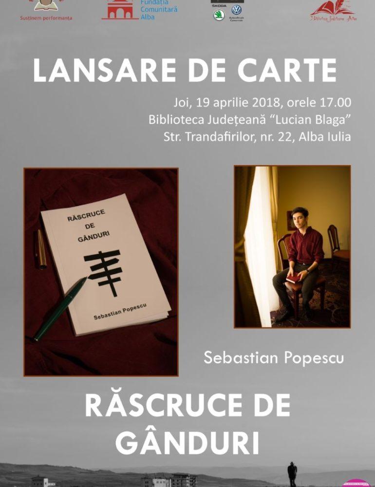 """JOI: Sebastian Popescu, bursier al Fundației Comunitare, își va lansa primul volum de poezii , la Biblioteca Judeţeană """"Lucian Blaga"""""""