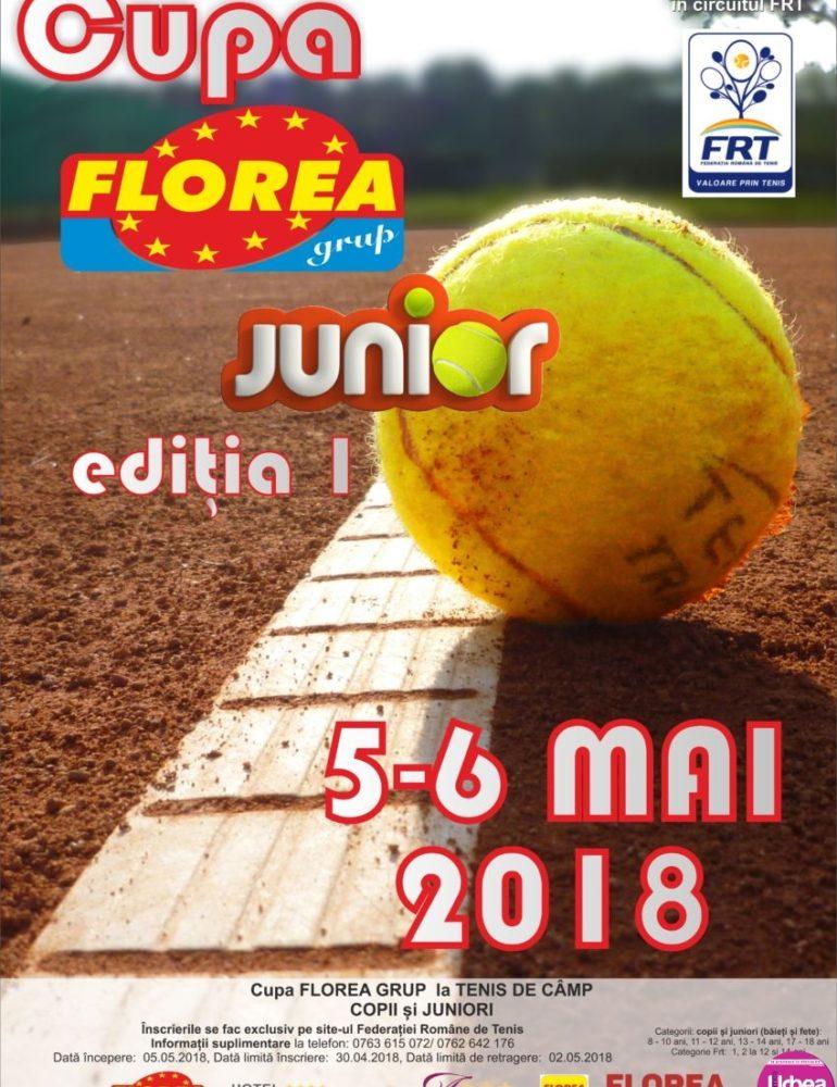 5 – 6 MAI: Cupa Florea Grup Junior, ediția I la Tenis de Câmp. Detalii despre înscriere