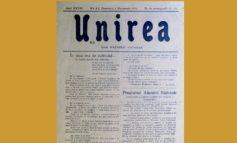 Marţi: Un exemplar din Ziarul Unirea, apărut la Blaj, în data de 1 Decembrie 1918, exponatul lunii mai, la Muzeul Naţional al Unirii din Alba Iulia