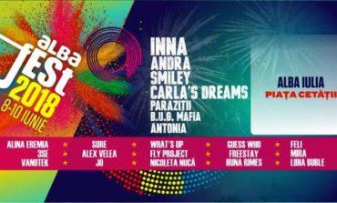 Alba Fest 2018: INNA, Andra, Smiley, B.U.G. Mafia, Carla's Dreams şi Antonia sunt o parte dintre artiştii care vor urca pe scenă în perioada 8-10 iunie