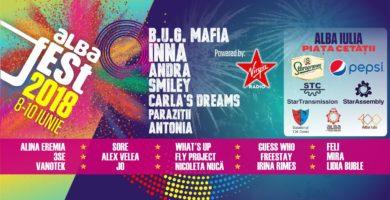 Alba Fest 2018: B.U.G. Mafia, INNA, Andra, Smiley, Carla's Dreams şi Antonia sunt o parte dintre artiştii care vor urca pe scenă în perioada 8-10 iunie