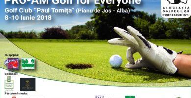 """8-10 IUNIE: Competiţia """"PRO-AM Golf for everyone"""", prima ediţie, la Pianu de Jos"""